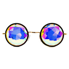 Load image into Gallery viewer, Black Metallic Prism Kaleidoscope Glasses