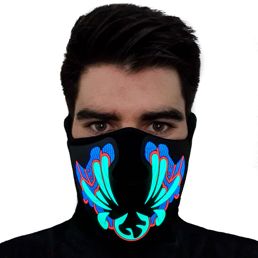 Blue Bane LED Sound Activated Mask