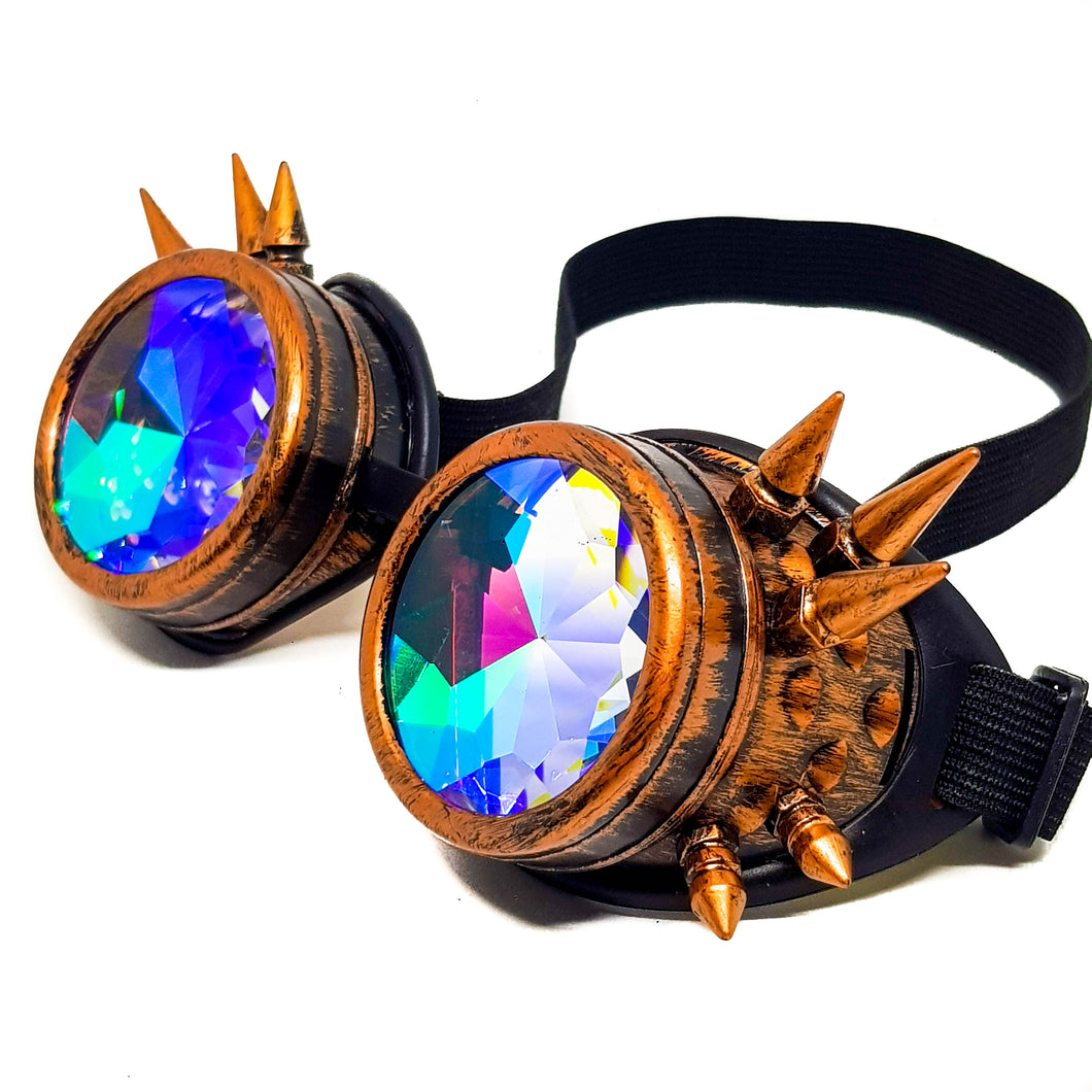 Brushed Copper Steampunk Kaleidoscope Goggles V2