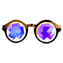 Load image into Gallery viewer, Gold Bridge Prism Kaleidoscope Glasses