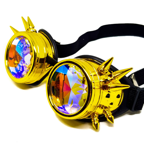 Gold Steampunk Kaleidoscope Goggles V2