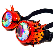 Load image into Gallery viewer, Molten Steampunk Kaleidoscope Goggles V2
