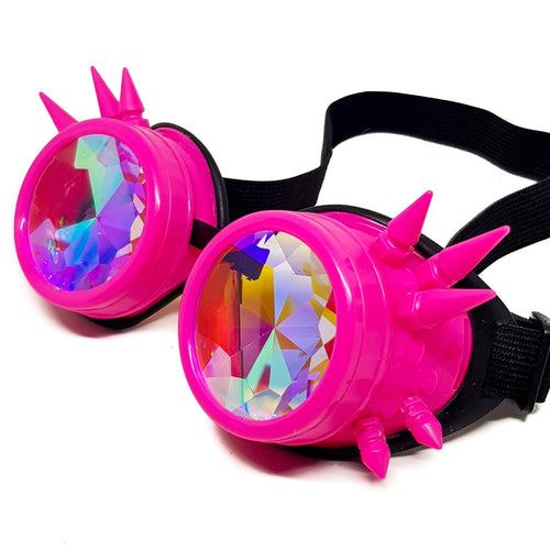Pink Steampunk Kaleidoscope Goggles V2