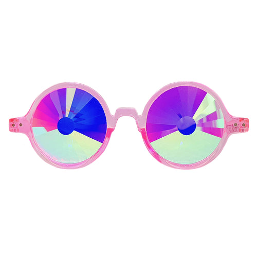 Pink Wormhole Kaleidoscope Glasses