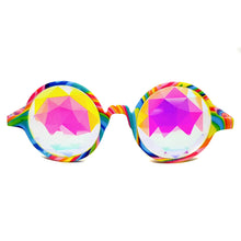 Load image into Gallery viewer, Tie-Dye Prism Kaleidoscope Glasses