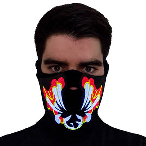 Red Bane LED Sound Activated Mask