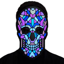 Load image into Gallery viewer, Skull Candy LED Sound Activated Flat Mask