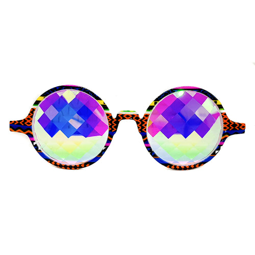 Tribal Bug-Eye Kaleidoscope Glasses