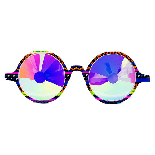Tribal Wormhole Kaleidoscope Glasses