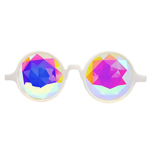 White Prism Kaleidoscope Glasses