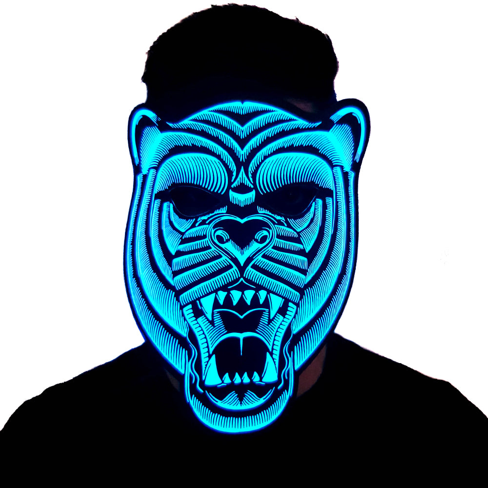 Bear LED Sound Activated Flat Mask