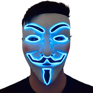 Blue LED Vendetta Mask