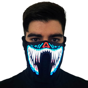 Blue Venom LED Sound Activated Mask