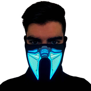Cell LED Sound Activated Mask