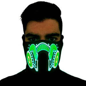 Cryo-Core LED Sound Activated Mask