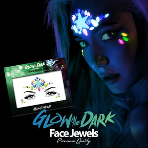 Glow In The Dark Princess Face Gems