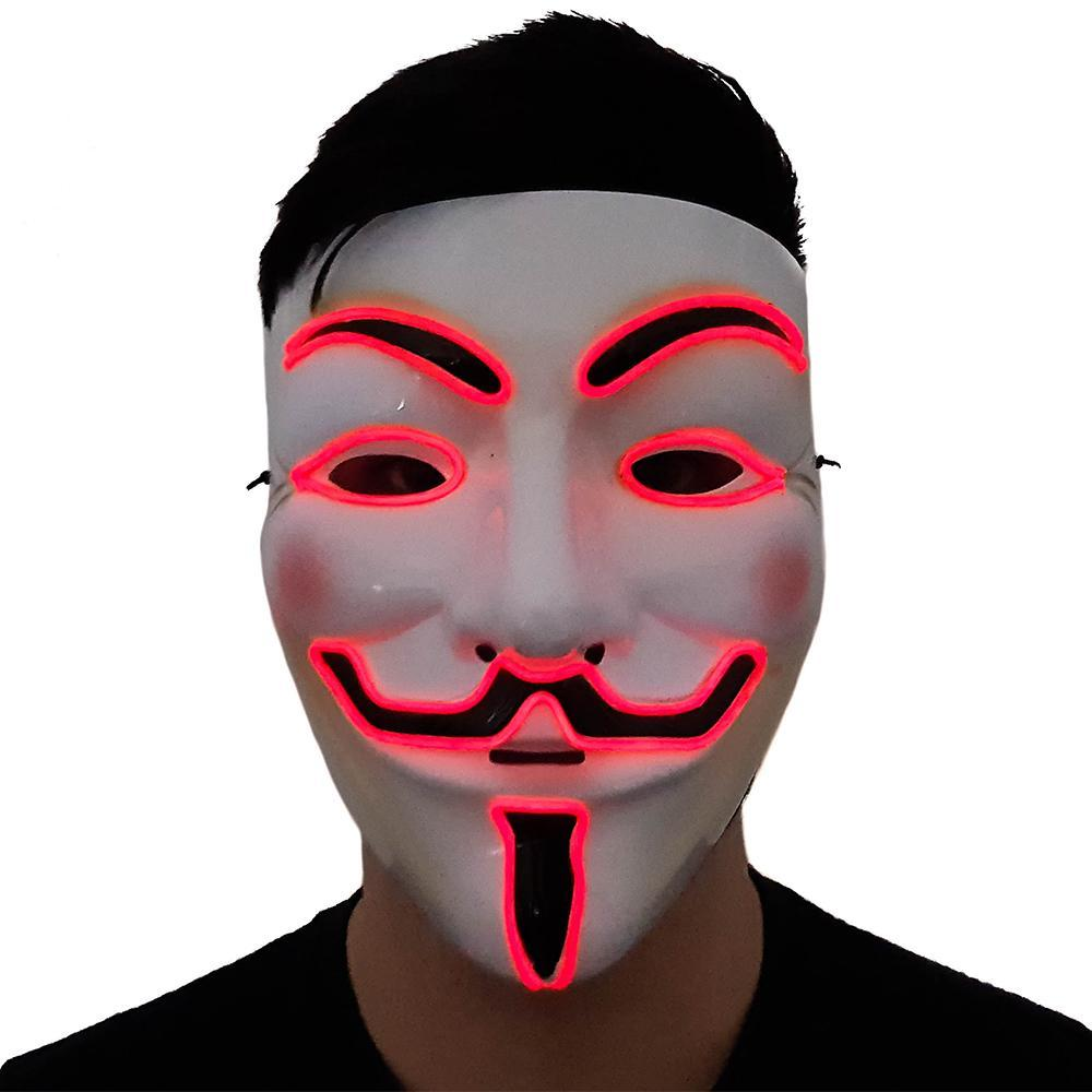 Red LED Vendetta Mask