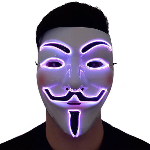 Purple LED Vendetta Mask