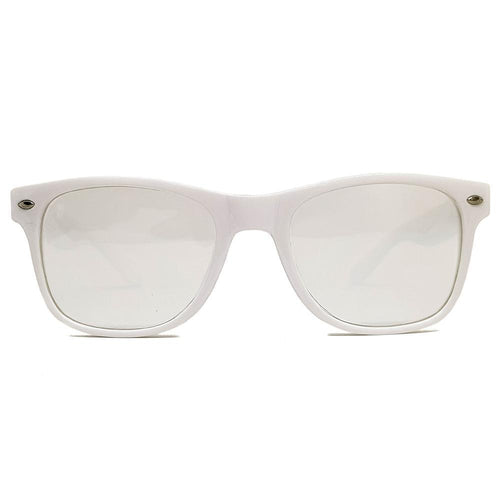 White Wayfarer Diffraction Glasses