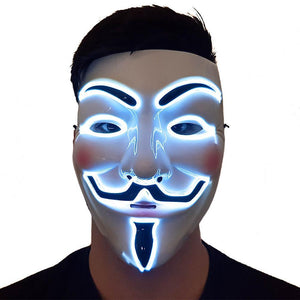 White LED Vendetta Mask