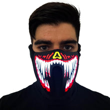 Load image into Gallery viewer, Red Venom LED Sound Activated Mask