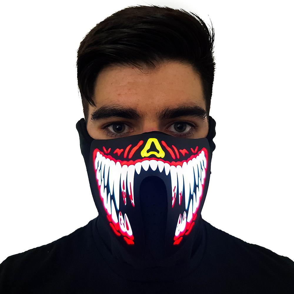 Red Venom LED Sound Activated Mask