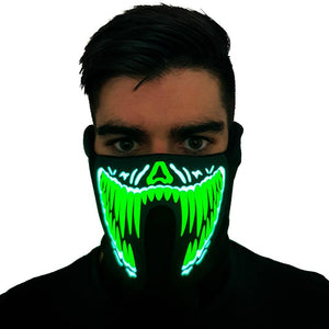 Green Venom LED Sound Activated Mask