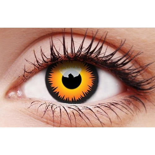 Orange Werewolf Contact Lenses