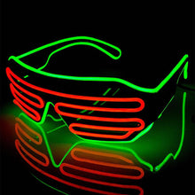 Load image into Gallery viewer, Neon Green/Orange LED Grill Glasses