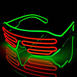Neon Green/Orange LED Grill Glasses