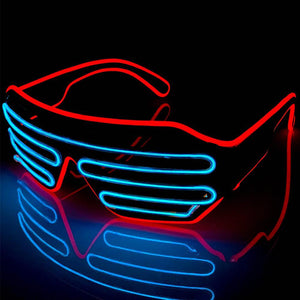 Neon Red/Blue LED Grill Glasses