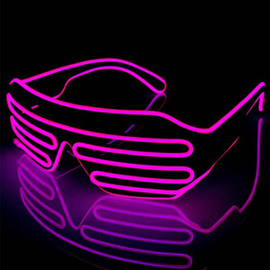 Neon Pink LED Grill Glasses