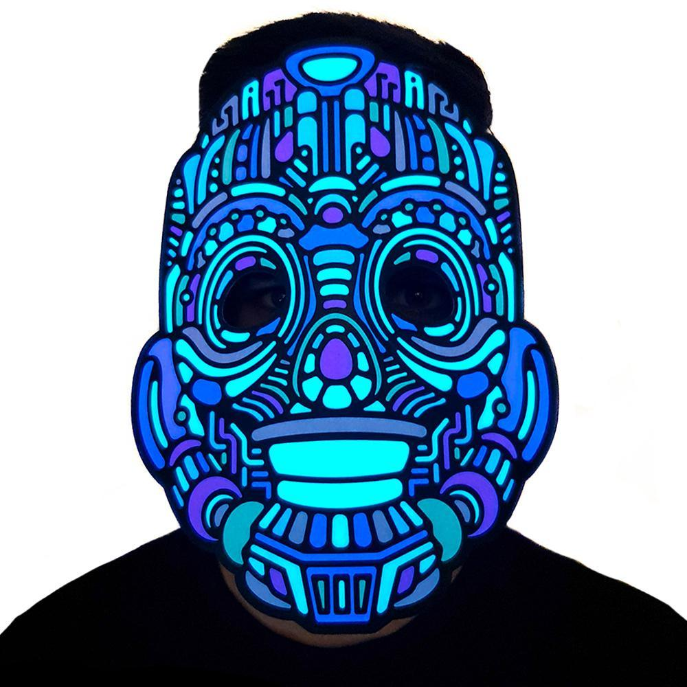 Roboto LED Sound Activated Flat Mask