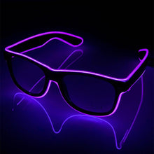 Load image into Gallery viewer, Neon Purple LED Glasses
