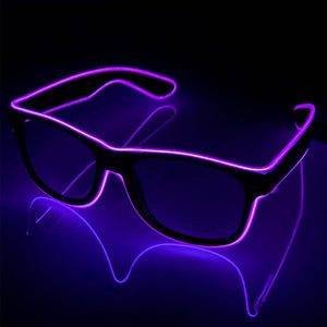 Neon Purple LED Glasses