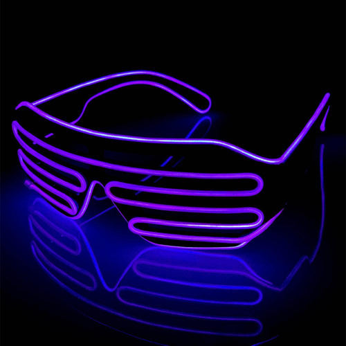 Neon Purple LED Grill Glasses