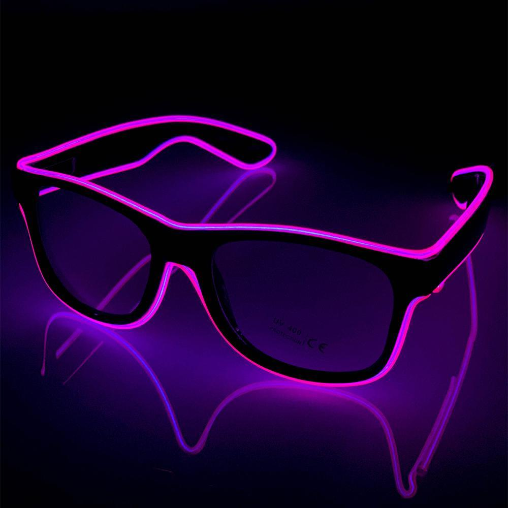Neon Pink LED Glasses