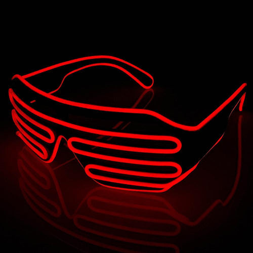 Neon Red LED Grill Glasses