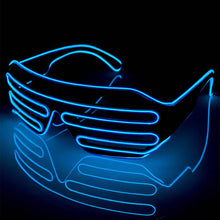 Load image into Gallery viewer, Neon Blue LED Grill Glasses