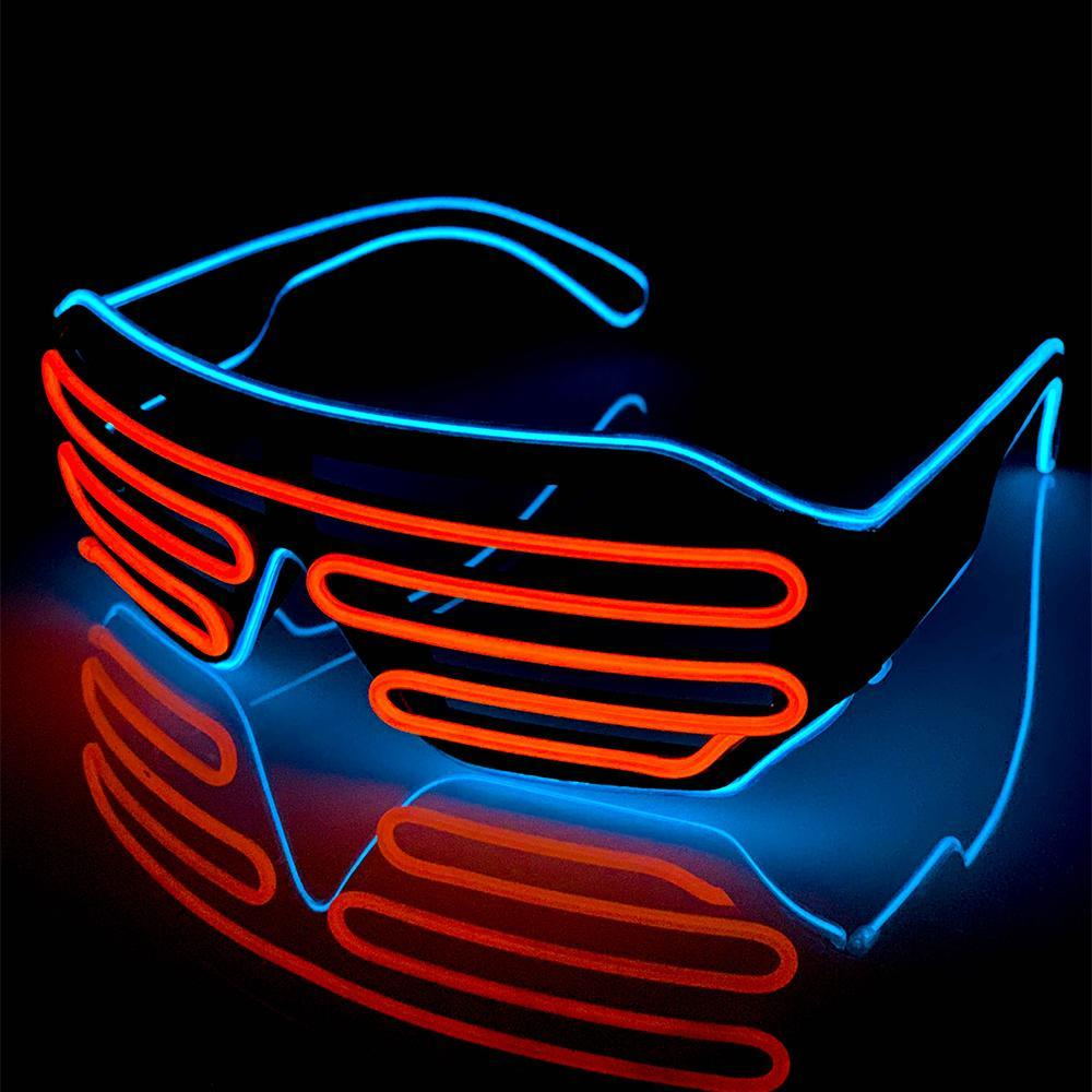 Neon Blue/Orange LED Grill Glasses