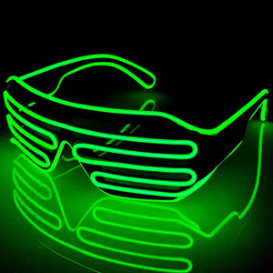 Neon Green LED Grill Glasses