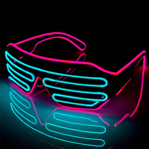 Neon Pink/Blue LED Grill Glasses