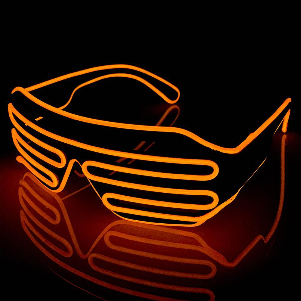 Neon Orange LED Grill Glasses