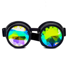 Load image into Gallery viewer, Black Kaleidoscope Goggles V2