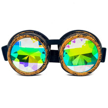 Load image into Gallery viewer, Brushed Gold Kaleidoscope Goggles V2