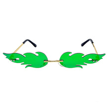 Load image into Gallery viewer, Festival Flame Sunglasses Green & Purple