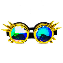Load image into Gallery viewer, Gold Steampunk Kaleidoscope Goggles V2