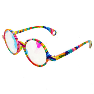 Tie-Dye Wormhole Kaleidoscope Glasses