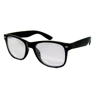 Black Wayfarer Spiral Diffraction Glasses