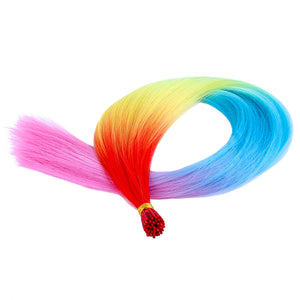 Rainbow Hair Extensions (50 Pack)